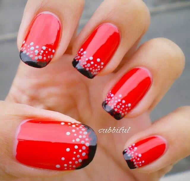 Red with gems.