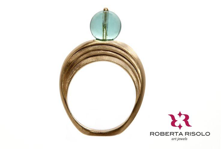 Anello PORTONE  Ottone Agata Onice Quarzo  Sono di ispirazione per questo gioiello i portoni che si aprono sulle meravigliose corti dei Palazzi leccesi.