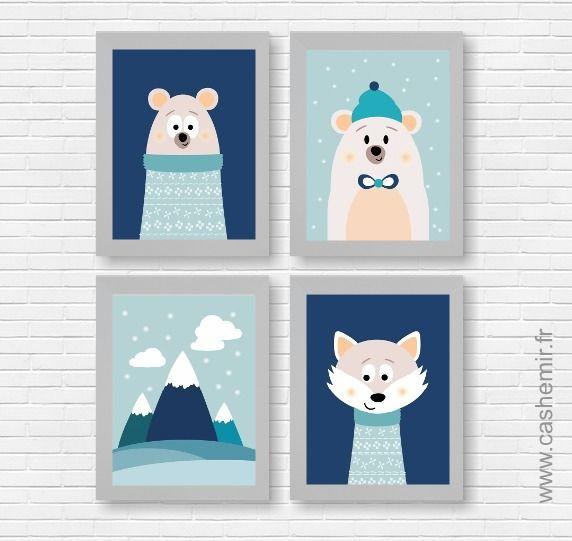 17 meilleures id es propos de b b ours polaires sur - Illustration chambre bebe ...