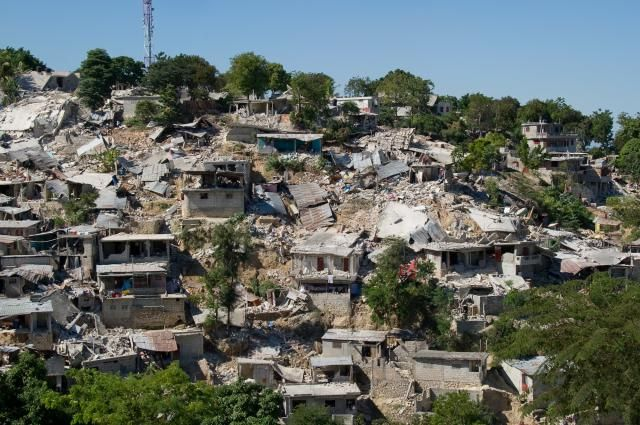 Much of the devastation of the 2010 Haiti earthquake can be linked to the country's poor economy and infrastructure.