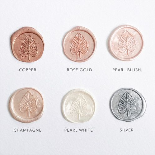 Image result for rose gold wax seal
