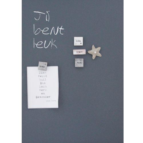 Magneet & krijtbord zonder lijst