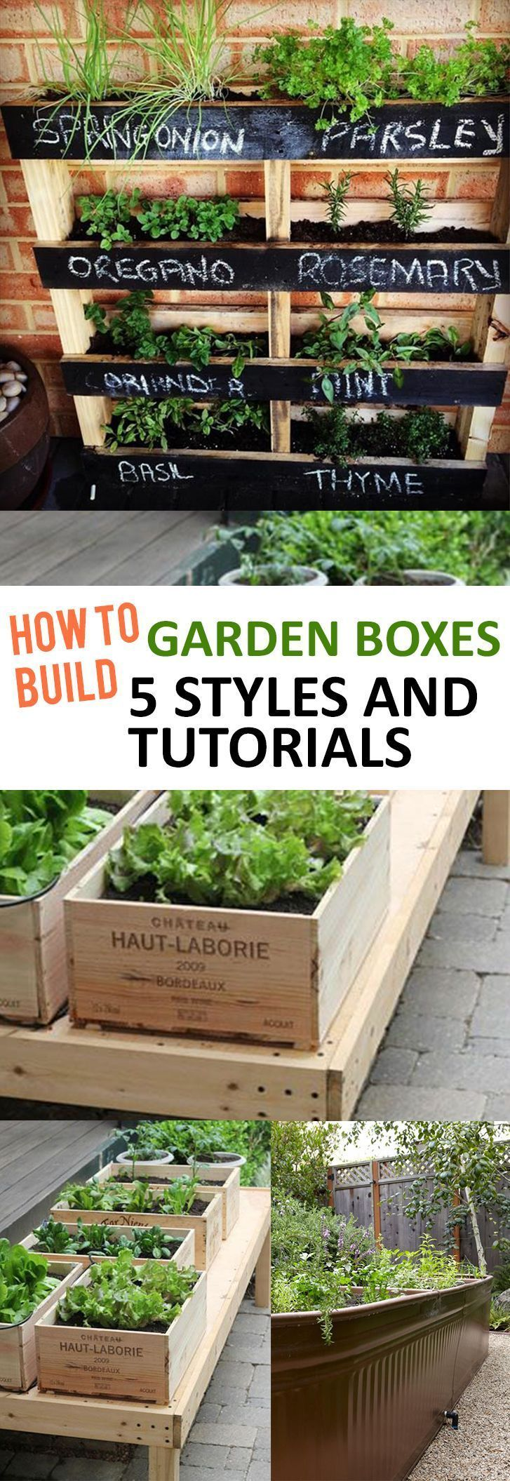 To build garden boxes: 5 styles and instructions