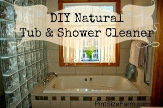 Only 2 ingredients and it works great! bathroom cleaner