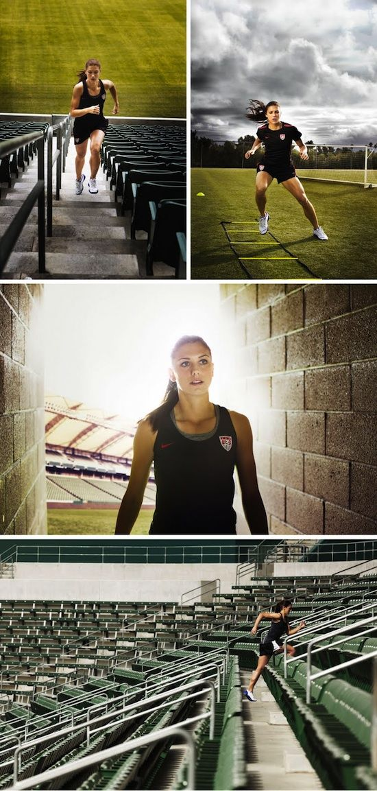 Alex Morgan.  You can't push yourself in the game if you don't push yourself to train in practice!