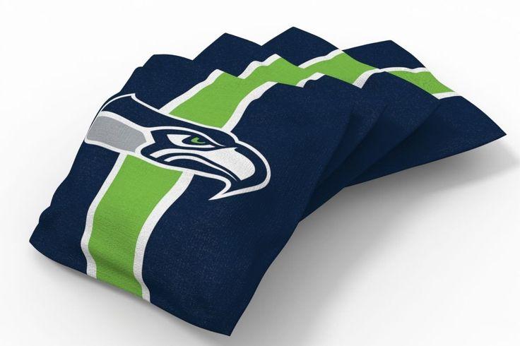 Seattle Seahawks Stripe Bean Bags-4pk (A)