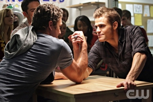 Paul Wesley TVD. What a fun show: great acting, catchy writing, phenomenal 'set'...It's TV worth watching ;)