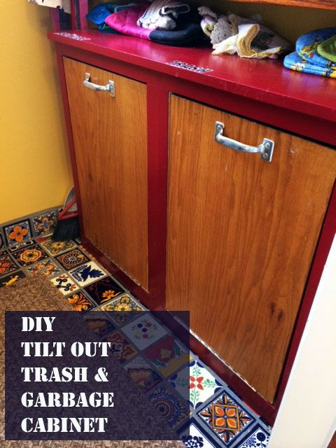 34 Best Wood Trash Can Plans Images On Pinterest