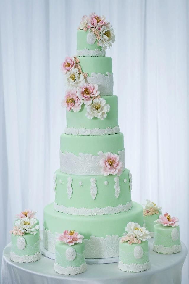 wedding cake mint 1000 ideas about mint green cakes on pretty 23253