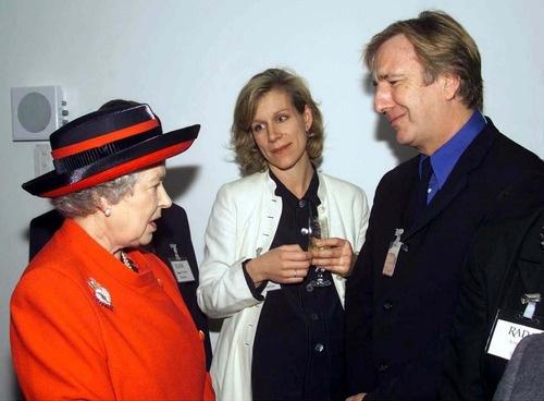 alan rickman. It doesn't get much better than alan rickman, juliet Stevenson, and the queen of England :)