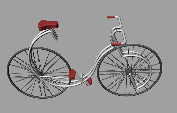 fiets ontwerp perspectief
