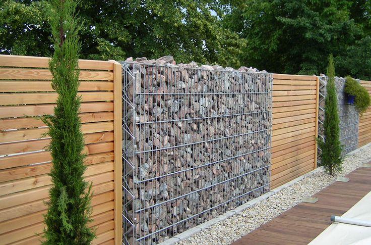 Gabion fence ideas 25 pinterest - Palissade anti bruit ...