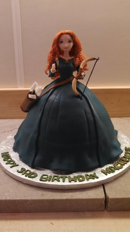 We made the coolest Merida doll cake today! What do you think? Jacques Pastries, NH.