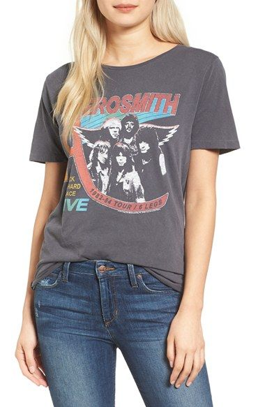 Free shipping and returns on Junk Food Aerosmith Tee at Nordstrom.com. This slouchy boyfriend tee—splashed with a bold, vintage-vibe Aerosmith graphic—has definitely got What It Takes.