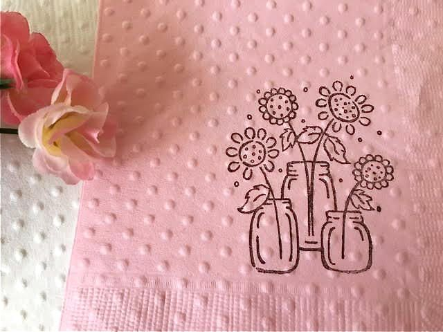 bridal shower napkins baby shower napkins mason jars rustic theme flower theme wedding napkins tea or brunch birthday napkins