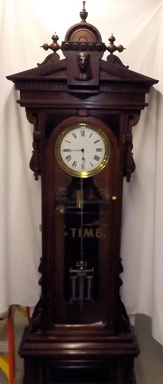 American Standing No 16 Regulator By Gilbert Antique Clocks Grandfather Clock Old Clocks