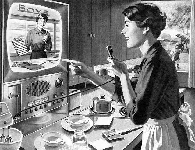 1950s: Shopping online