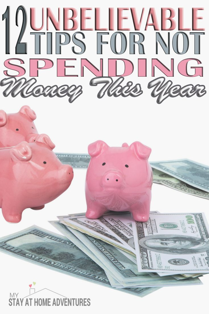 You are spending too much and one of the reasons you can't save. To help you here are 12 Unbelievable Tips For Not Spending Money This Year.