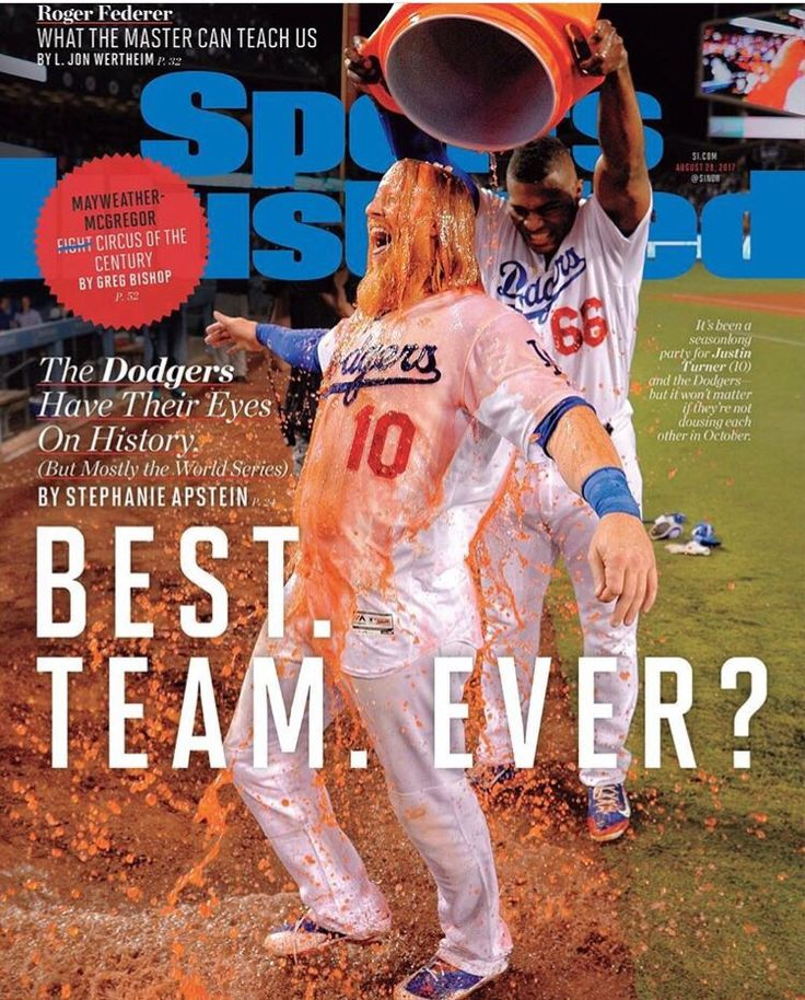 Check out who's on the cover of the newest issue of Sports Illustrated -- Justin Turner and Yasiel Puig. Best yet, according to Alanna Rizzo on twitter, the photo used was taken by Dodgers photographer Jon SooHoo - a first for him on this magazine. Congrats!