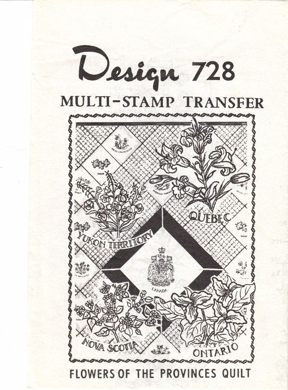 S embroidery transfer canadian provincial flowers for