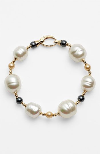 Majorica Pearl Line Bracelet available at #Nordstrom