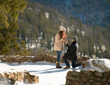 Proposal Sapphire Point Overlook Amazing Winter Proposal