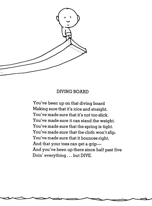 dive poem, this has been me for far too long! No more!