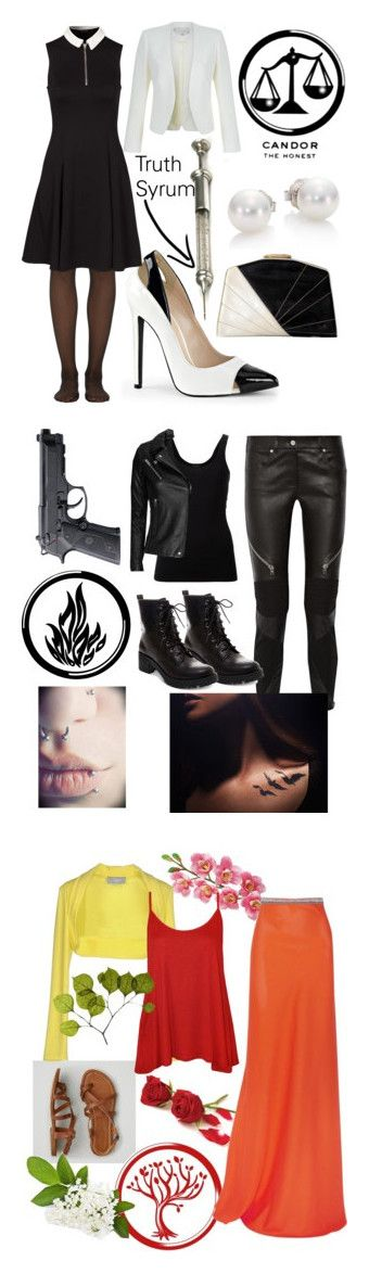 """""""Divergent"""" by zienna-poo ❤ liked on Polyvore featuring Mikimoto, Wolford, New Look, Hobbs, Givenchy, Theory, IRO, Madden Girl, Elite and Laura Cole"""