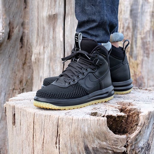 Nike Lunar Force 1 Duckboot Black/Black-Metallic