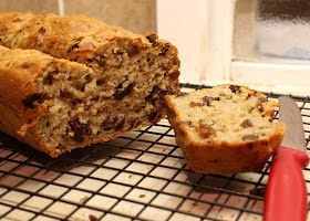 Sugar Free Banana Bread with lactaid milk replacement.