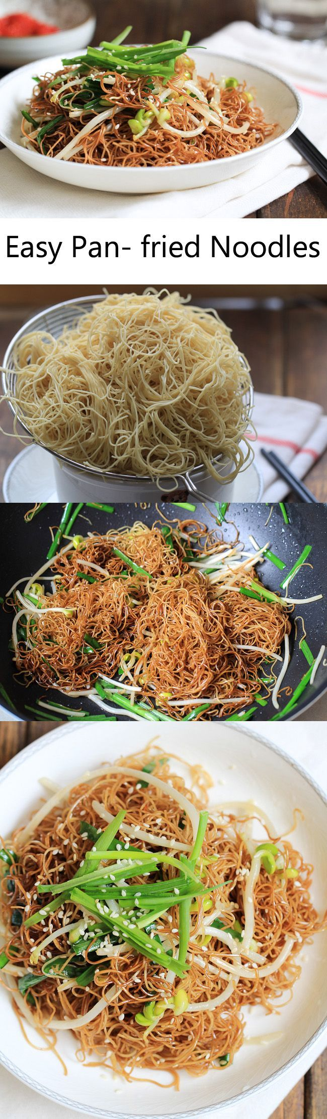 Soy Sauce Fried Noodles (Chow Mein)