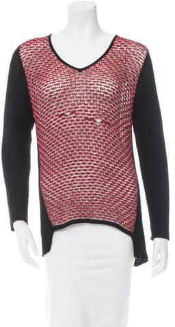 Helmut Lang Long Sleeve V-Neck Sweater