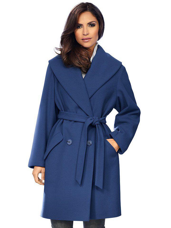 Dámsky kabát ASHLEY BROOKE BY HEINE - kráľovská modrá