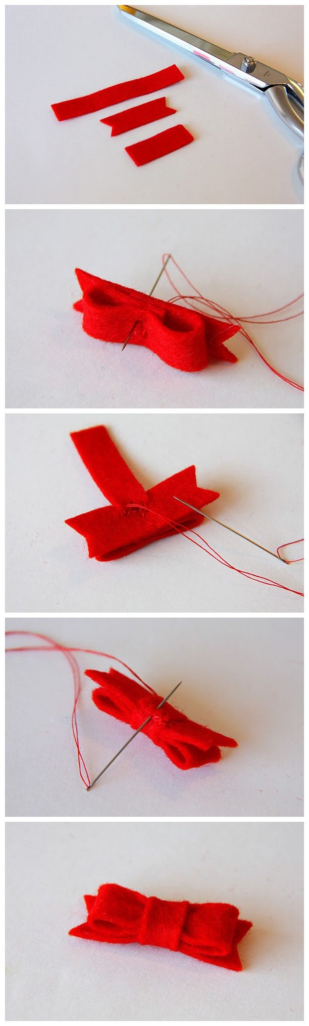 easy how-to make a tiny bow - Facile fare questo bel fiocchetto