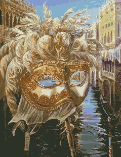 Схема вышивки венецианских масок