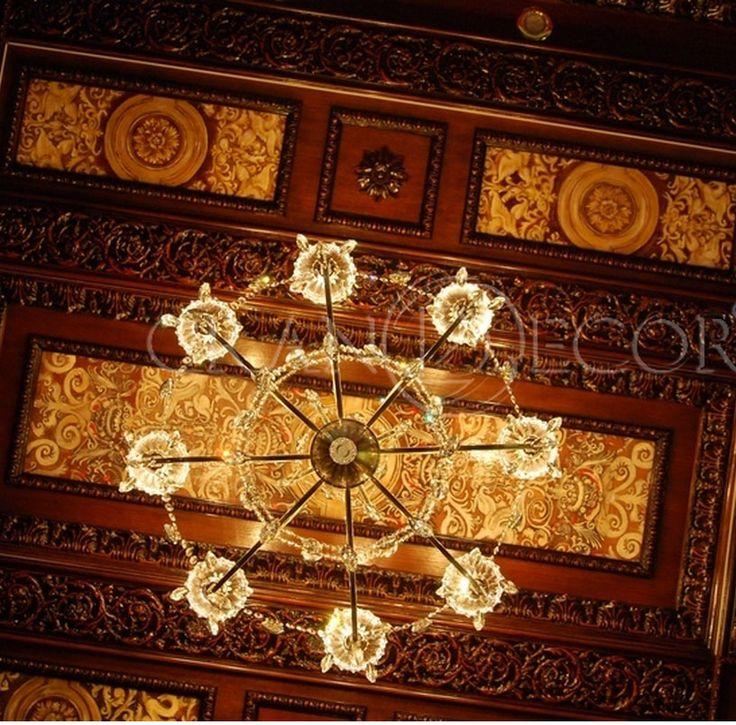 Деревянный потолок Романо | grandecor.ru