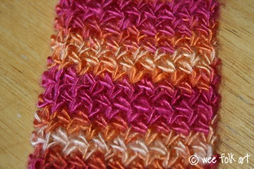 Knitting Pattern For Thin Scarf : Knitting the Cross Stitch (Tutorial and Skinny Scarf Pattern) Wee Folk Art ...
