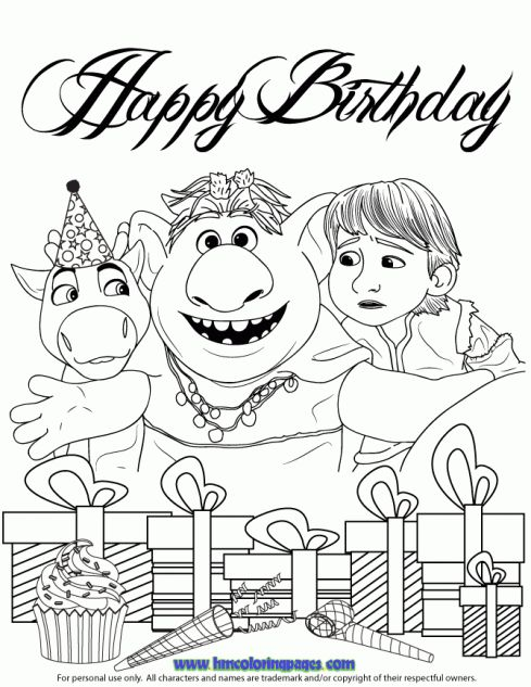 Frozen Coloring Pages Kristoff And Sven Birthday