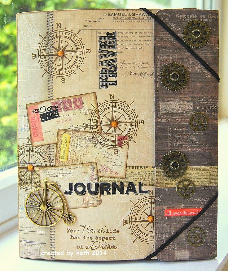 Carpeta diario de viaje, crea tu mini album sobre la marcha y guarda todos tus recuerdos.