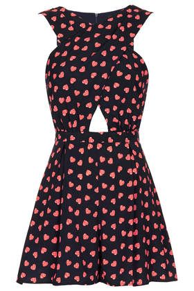 Fluro Heart Cross Over Playsuit #topshop  #hearts  #heartprint  #playsuit
