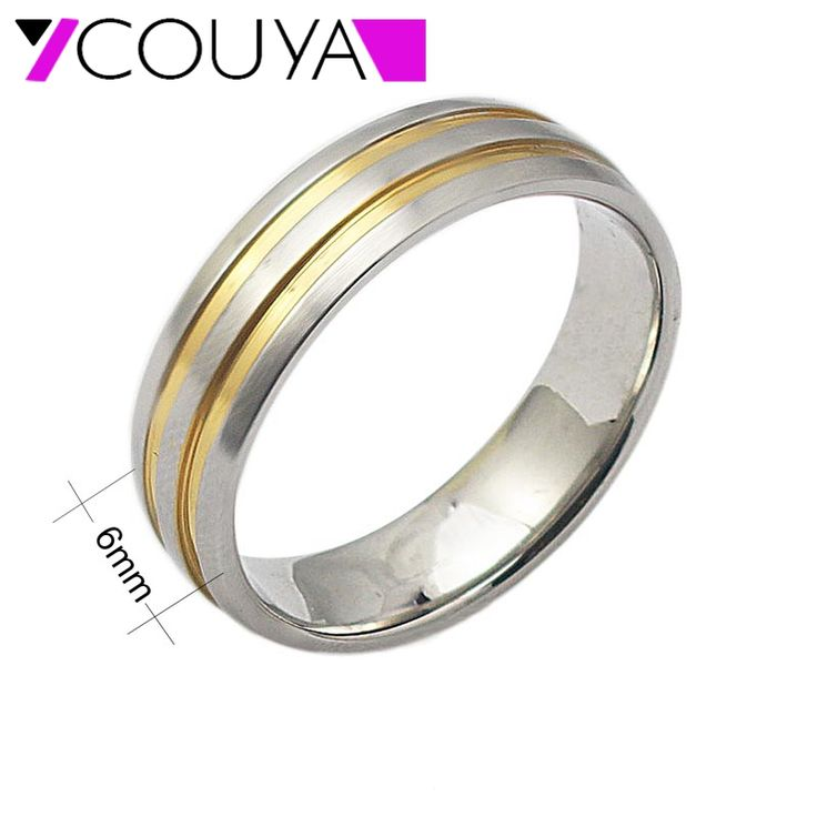 Spectacular mm width wedding rings for women gold color wedding party rings new fashion us size