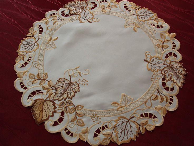 Осенние листья салфетка скатерть стол кремово-белого Бегун золото коричневый вышивка | ибее