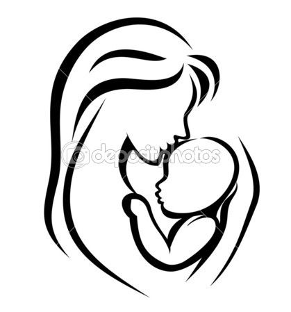 Símbolo de mãe e do bebê — Ilustração de Stock #9832528