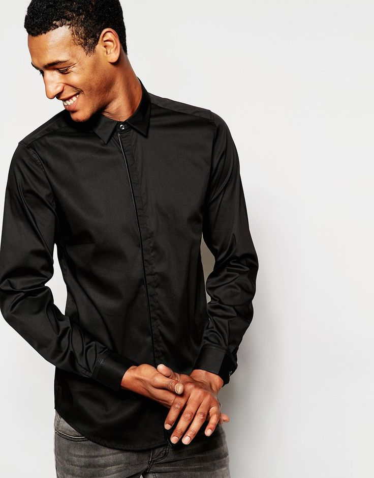 Antony Morato Shirt with Placket Binding in Slim Fit