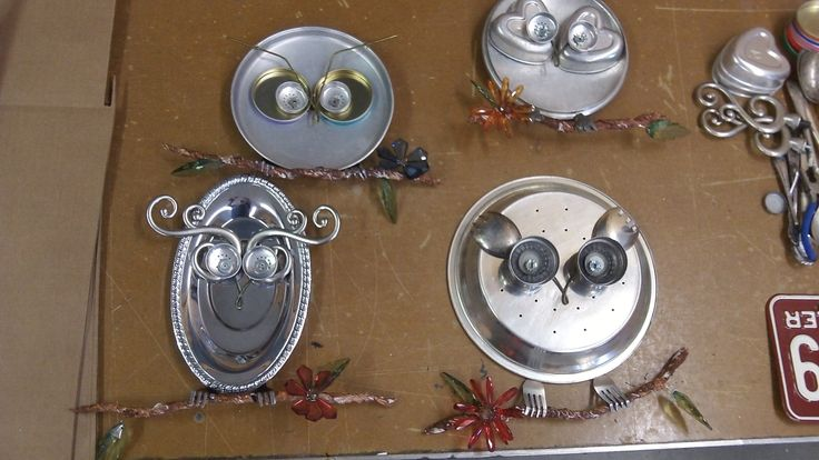 "Reuse Art - 2014 ""Waste-To-Art"" Competition, Show & Auction - Dede Spidle - Kitchen Owls"