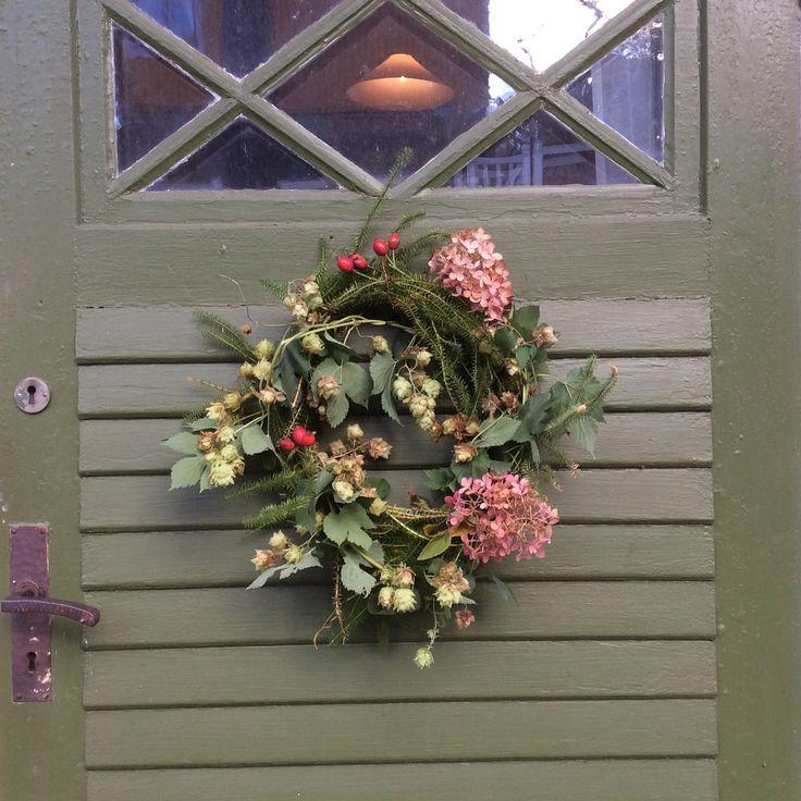 Dörrkrans höst grön
