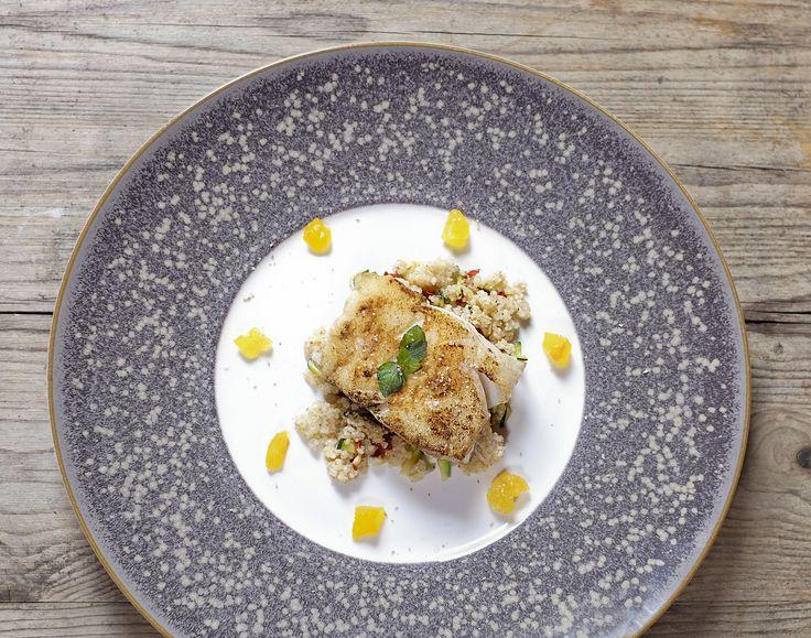 Pavés de cabillaud (cuisson parfaite) à la semoule d'orge, menthe et citron confit - Et si c'était bon...