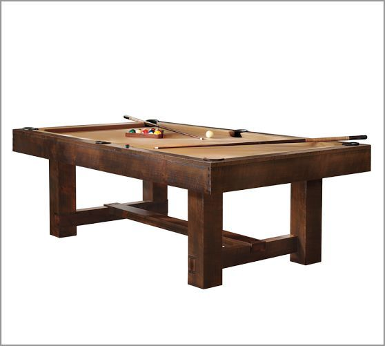 Pottery barn pool table with ping pong cover pottery for Supreme 99 table game
