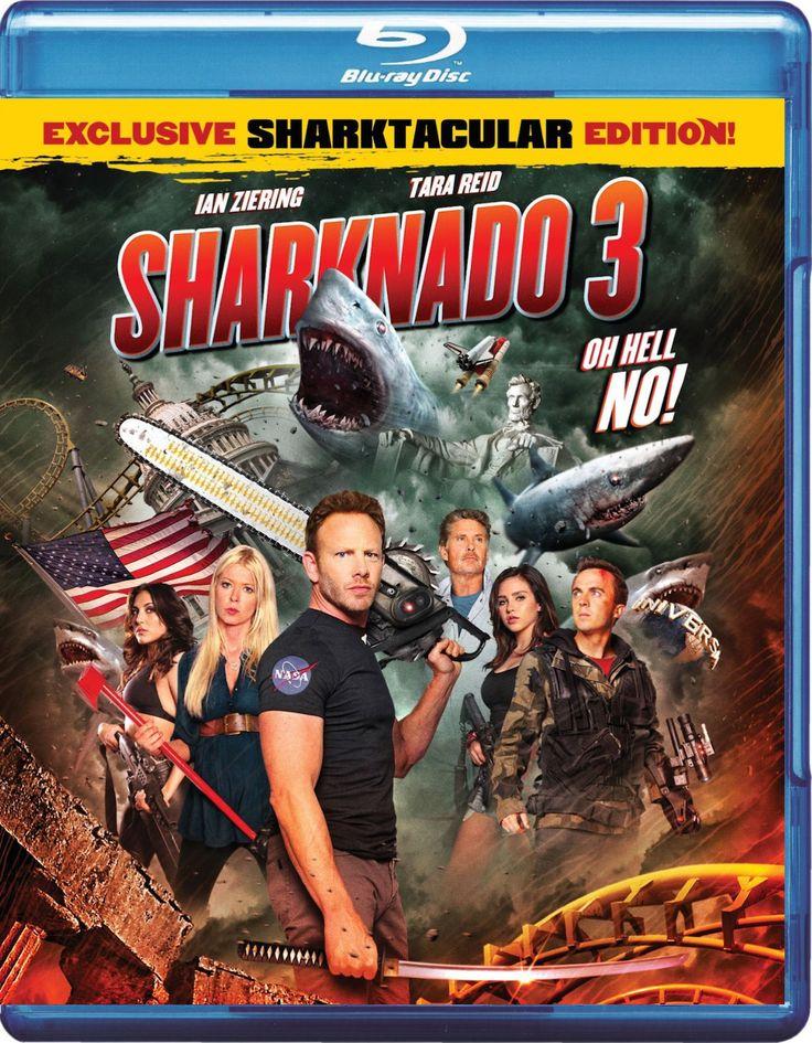 Sharknado 3: Oh Hell No! Sharktacular Blu-ray Edition Cover