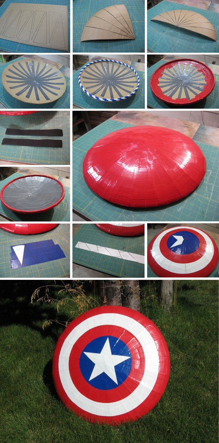 Just use poster board instead of cardboard and there we go! (for my Captain America bulletin board)